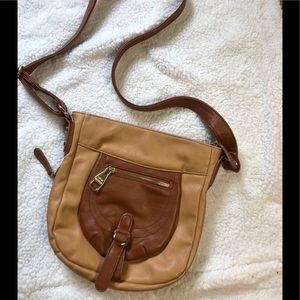 Steve Madden Brown and Tan Crossbody Bag